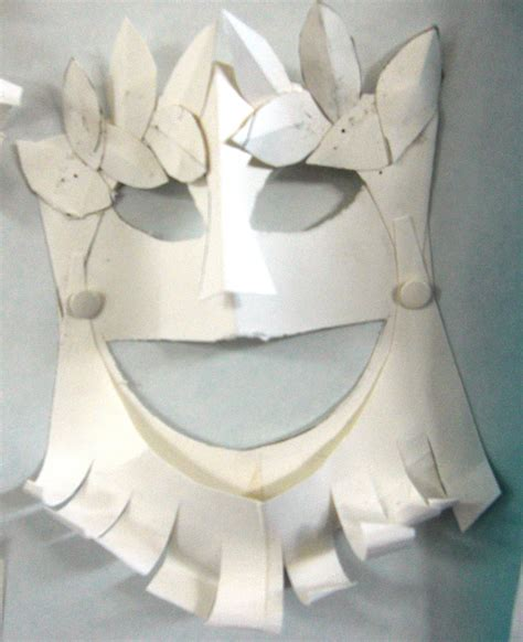 Ancient Mask Template by Mrs Crosbie Tragedy