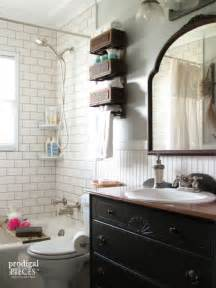 Budget friendly farmhouse style bathroom makeover by prodigal pieces