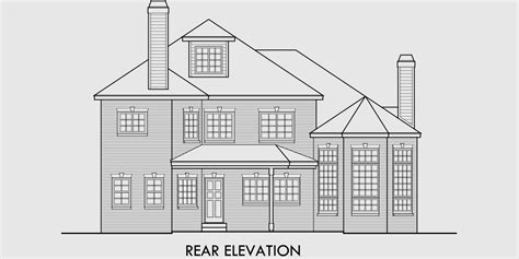 brick house floor plans brick house plans curved stair attic dormer small
