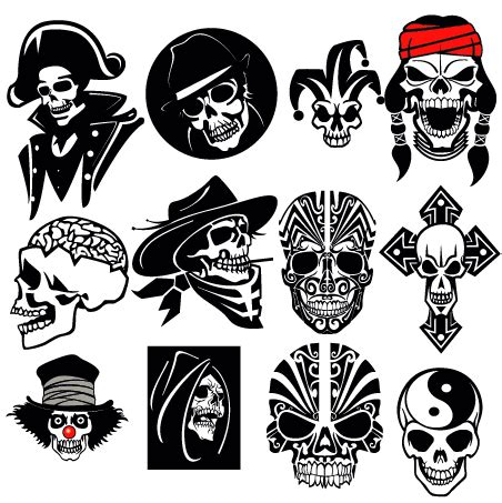 skull vector collection creative alys