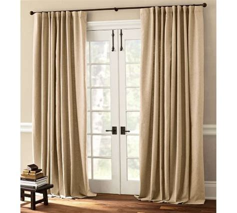 peyton linen cotton drape in ivory for living rm pottery barn 4 100 quot x84 quot panels sale