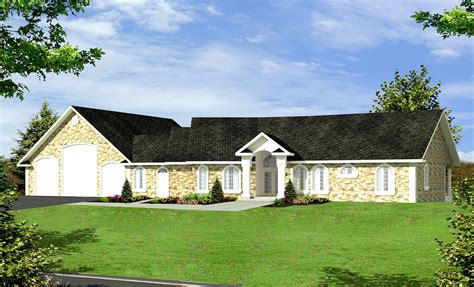 sloping house plans ranch home for a sloping lot 35296gh architectural designs house plans