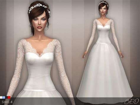 Dress Big Salur Cc beo creations wedding dress 25 v 2 sims 4 downloads