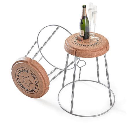 Wire Stool Side Table by Chagne Cork Wire Cage Stool Side Table