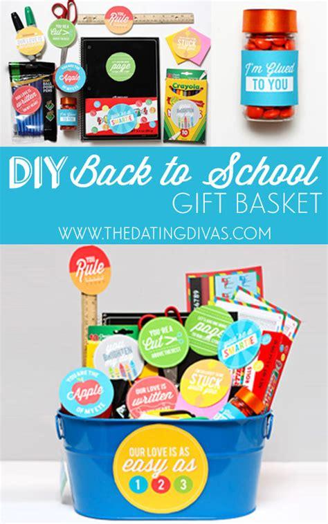 gift ideas for school diy back to school gift basket
