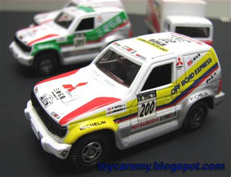 featured collection tomica mitsubishi pajero rally set cars collector malaysia junior