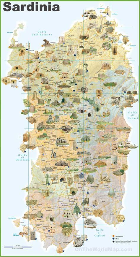 sardinia map sardinia tourist map