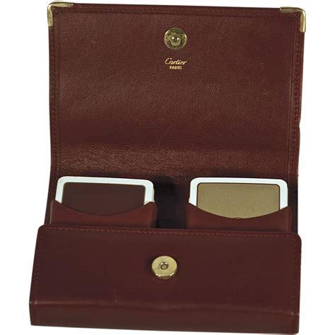 Cartier Cervo 8851 Leather Set vintage leather cartier card set with matching