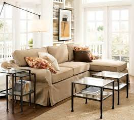 pottery barn basic sofa pb basic slipcovered sofa with chaise sectional pottery barn