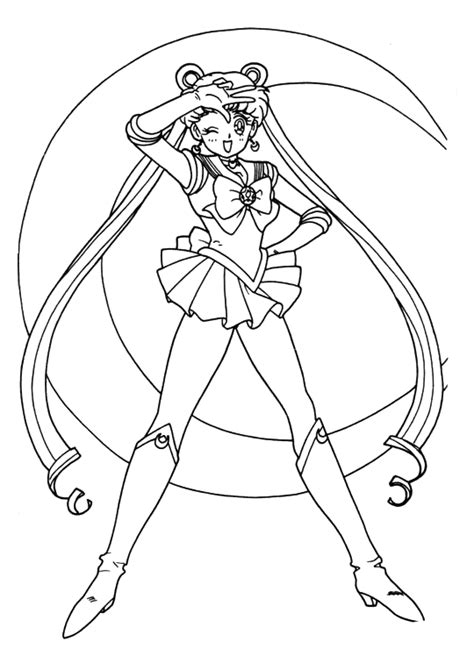 Free Sailor Moon Coloring Pages Sailor Moon Printable Coloring Pages