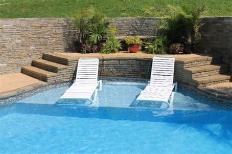 Pool Tanning Chairs Design Ideas Inground Pool With Ledge For Chairs Consider A Tanning Ledge Any Shape Any Size Any Pool A