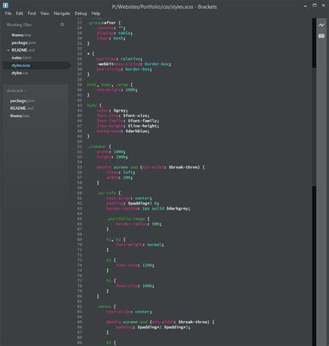 themes brackets editor github nicom1 slickrock a dark clean minimal theme