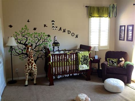 Baby Nursery Decor Jungle Safari Bedroom Forest Baby Nursery Jungle Decor