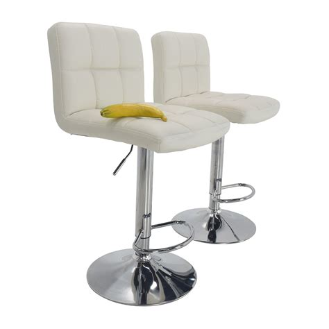 Bars Stools Furniture by 51 Roundhill Furniture Roundhill Furniture White