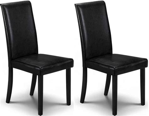 black faux leather dining chairs uk buy julian bowen hudson black faux leather dining chair