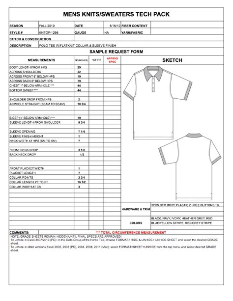 Dress Import 20pcs Grade Standard by Garment Costing Sheet Excel Template