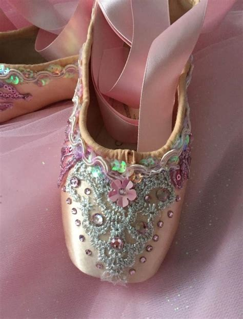 Decorated Shoes by Decorated Pointe Shoes Sugar Plum Just Ballet