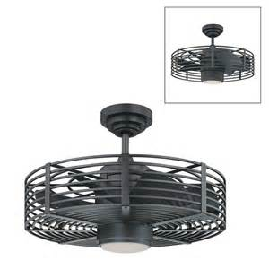 cage enclosed ceiling fans kendal lighting ac17723 enclave ceiling fan