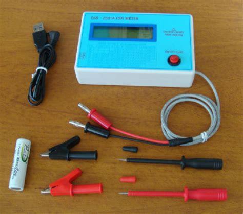 capacitor tester esr ebay new capacitor esr dcr tester in circuit capacitance meter ebay