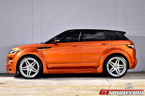 orange range rover evoque 2012 project kahn range rover evoque orange cars
