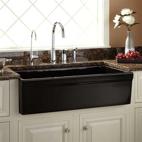 Fireclay Kitchen Sinks by 36 Quot Gallo Fireclay Farmhouse Sink Black Kitchen