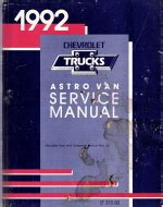 car owners manuals free downloads 1992 chevrolet astro interior lighting 1992 chevrolet astro van service manual