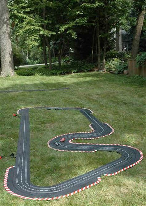Backyard Cing Ho Slot Car Racing Outdoor Racing On The Parkmoor Garden