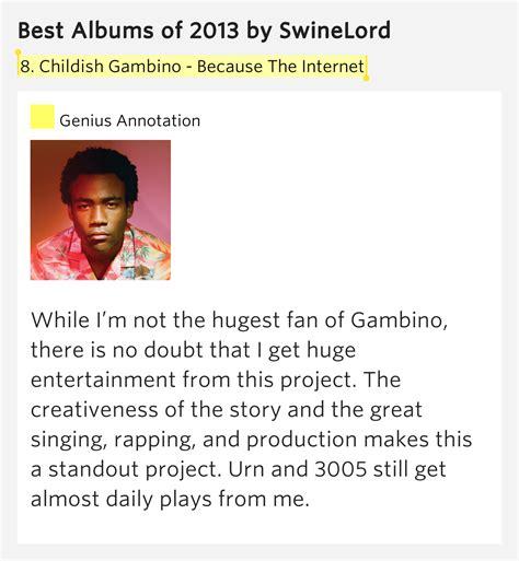 childish gambino best songs 8 childish gambino because the internet best albums