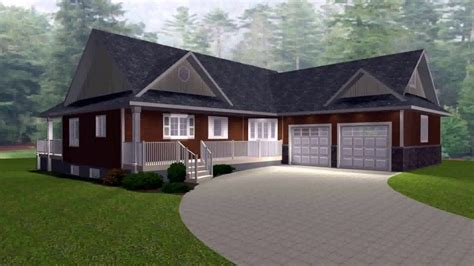 Bungalow Plans With Garage by 3 Bedroom Bungalow House Plans With Garage Bungalow House