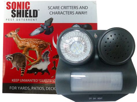 scare animals away with the sonicshield bird b inc
