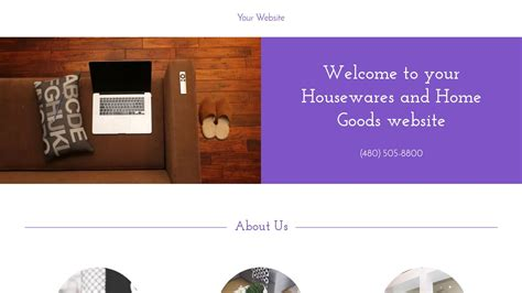 exle 17 housewares and home goods website template
