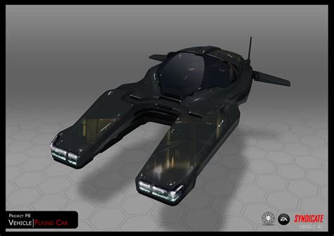 syndicate car syndicate concept hover car black by torvenius on deviantart