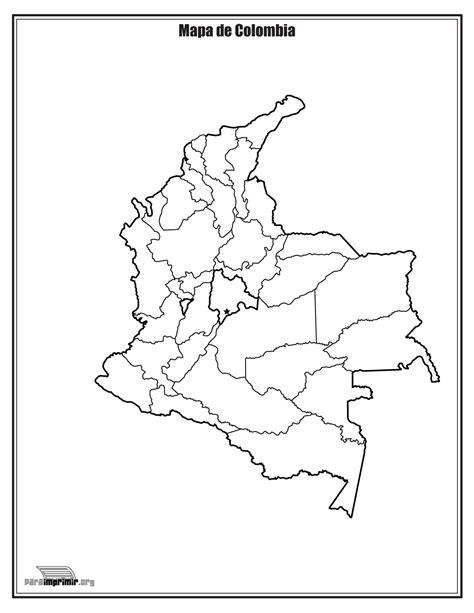 da clic para ver en grande e imprimir mapa de colombia sin nombres para imprimir