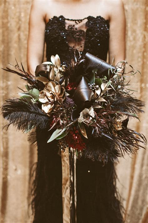 black and gold new years black and gold wedding bouquets