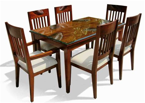 Dining Table Chair Set Six Chair Dining Table Set Home Furniture Design