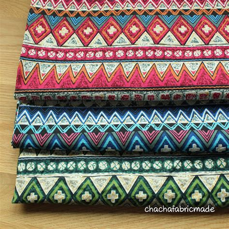 colorful upholstery fabric colorful stripy cotton linen boho fabric bohemian fabric
