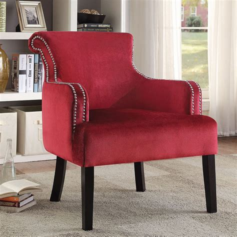 elegant accent chair  nailhead trim red accent chairs living room furniture living room