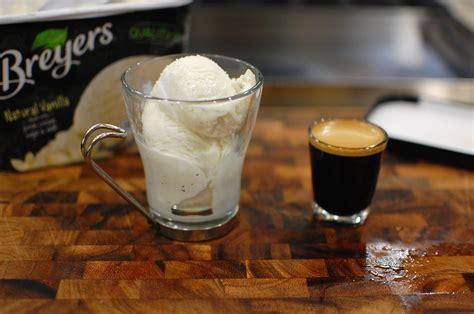 espresso with ice cream affogato italian espresso and ice cream or gelato the
