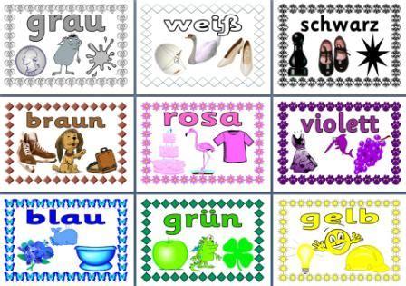 colors in german mfl german resource german colours printable posters