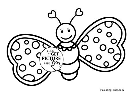 free coloring pages of butterflies for printing butterfly coloring pages cute for kids printable free