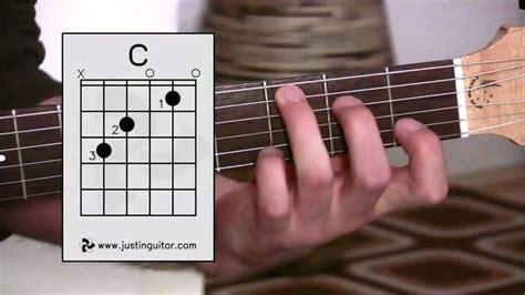 tutorial untuk beginner guitar the c chord guitar lesson bc 132 guitar for beginners