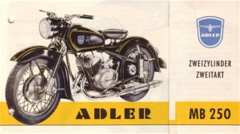 Adler Motorrad by Adler Motorrad Mb 250 Prospekt 1955 Nr Adl M5505