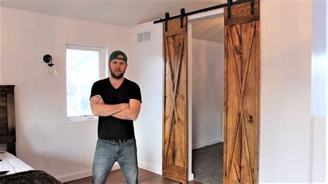 double barn door easy diy project youtube