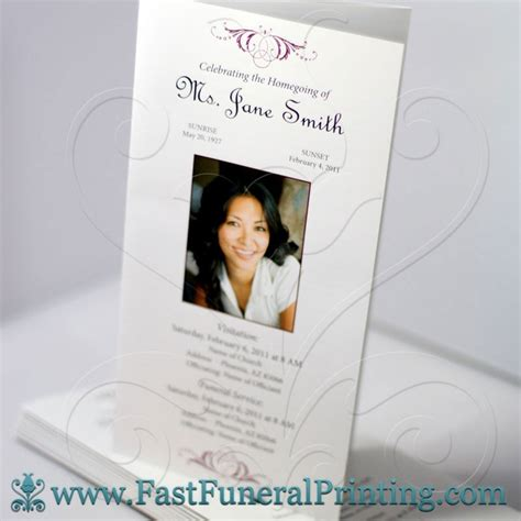 make your own funeral cards pin by fast funeral printing on funeral programs