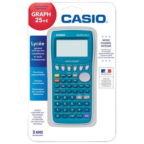 calcolatrice casio calculatrice graphique graph 25 e casio casio la