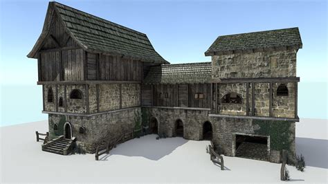 store house 3ds max storehouse medieval city