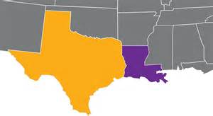 Texas Louisiana Map by Texas And Louisiana Map Map