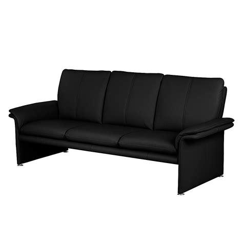 sofa günstig kaufen sofa 3 sitzer echtleder schwarz nuovoform