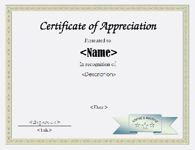 certificate of appreciation free template free printable award certificate template free printable