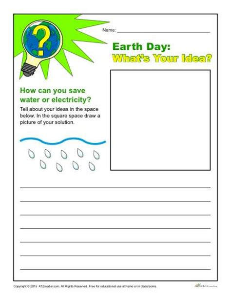 6th Grade Writing Worksheets by Best Photos Of Earth Day Writing Template Earth Day